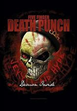 "FIVE FINGER DEATH PUNCH FLAGGE / FAHNE ""JEKYLL AND HYDE DEMON INSIDE"" POSTERFLAG"