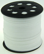 10yds 3mm white Suede Leather String Jewelry Making Thread Cords