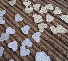 150 PERSONALIZZATO WEDDING CUORE Coriandoli-tabella favorisce PARTY sposa sposo nomi