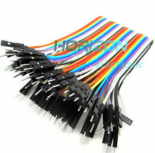Hot 40PCS Dupont wire jumper cables 20cm 2.54MM male to male 1P-1P For Arduino