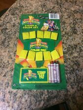 Vintage 1993 Mighty Morphin Power Rangers Stamp & Color Set #328. Sealed.