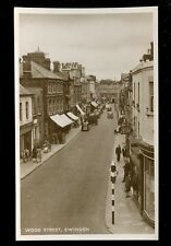 Wilts Wiltshire SWINDON Wood St Boots Chemist at right early RP PPC c1950s?