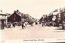 PHOTOCARD OF VICTORIA  ROAD  CLEVELEYS 1930's  (BLACKPOOL , FYLDE )