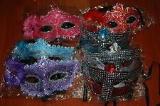 Lot Of 7pc Eye Face Mask  Party Masquerade Halloween