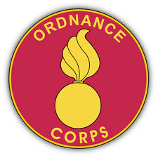 Ordnance Corps Plaque Seal USA Car Bumper Sticker Decal 5'' x 5''