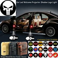 2x Wireless Led Punisher Logo Puddle Laser Lamps 3D Ghost Shadow Car Door Light