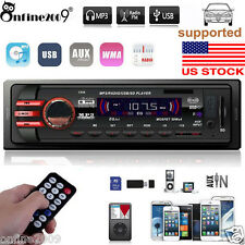 Car In-Dash Stereo Audio 1DIN In-Dash Receiver SD USB MP3 Music Player FM Aux