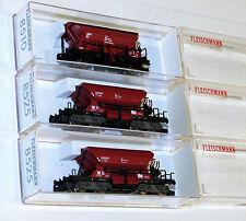 3x Fleischmann Güterwagen: 8510, 2x 8525 Selbstentladewagen OVP TOP Spur N