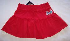 Bratz Girls Logo Red Printed Cotton Skirt Size 12 New