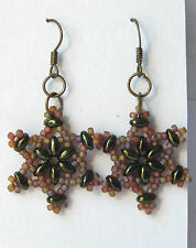 "Camouflage ""Lucky Star"" Hunting Earrings w/ Anodized Hematite by Slave Violet"