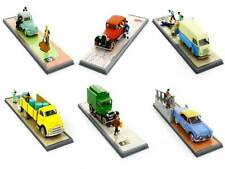 6 voitures Tintin . collection Tintin transport .  Moulinsart