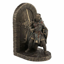 Armored Maltese Crusador with Sword Guarding Door Bookend home decor