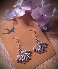 Bumble bee earrings silver beautiful boho nature
