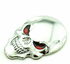 Skull Car Boot Chrome Badge Universal for Auto Car Rear Trunk Emblem Sticker 521