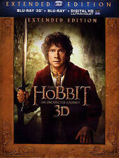 The Hobbit: An Unexpected Journey (Blu-Ray3D, 5-Disc Set, Extended Edit. New.