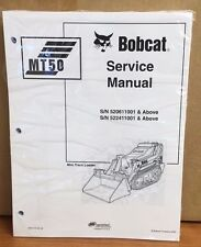 Bobcat MT50 Mini Track Loader Service Manual Shop Repair Book Part # 6901510