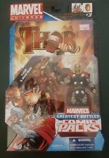 Marvel Universe Greatest Battles Figures 2-Pack w/ Comic -Thor Vs Iron Man *New