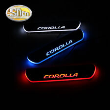 Sncn LED  Rear Door Sill Scuff Plate for Toyota Corolla 2014 2015 2016
