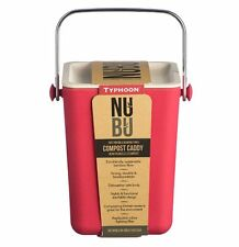 Typhoon NUBU Stackable COMPOST CADDY Kitchen Bin BAMBOO FIBRE Red