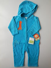 LE TOP Baby Boy Safari Hooded Coverall All in One Size 000 Fits 3mths NEW *Gift