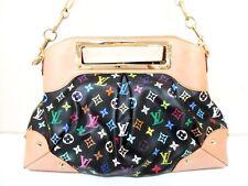 Authentic LOUIS VUITTON Monogram Multicolore Judy GM M40254 Noir Handbag TH0049