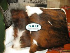 "COWHIDE PILLOW COVER 16"" x 16"" TRICOLOR Cowhide Rug"