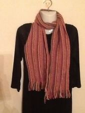 MONSOON/ACCESSORIZE PINK MULTI WINTER SCARF MADE IN SCOTLAND BNWT RRP
