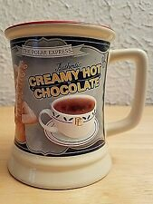 THE POLAR EXPRESS 3D CREAMY HOT CHOCOLATE 12oz Coffee Mug Tea Cup Warner Bros.