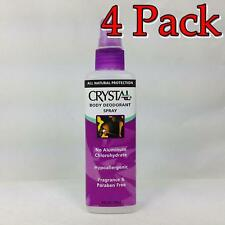 Crystal Body Deodorant Spray, Fragrance Free, 4oz, 4 Pack 086449300093A265