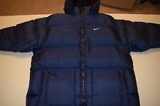 Nike Down Puffer Puffy Jacket Coat Men's XL Navy Blue Hooded parka skiing ski