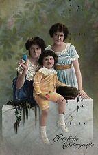 Ostern, Mutter mit Kindern, Feldpost 1916