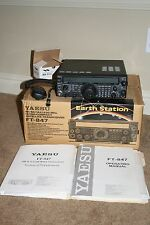 Yaesu FT-847 HF/2M/6M/70cm Transceiver Original Box MH-31 Dynamic Microphone