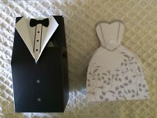 WEDDING FAVOR Gift BOXES 10 Tuxedo & 20 Wedding Gown (2 styles)
