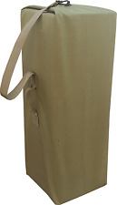 Top Load Military Canvas Duffel Bag Seabag 25x42 Made in USA Coyote Tan color