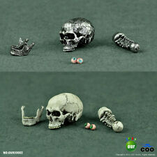 HOT FIGURE TOYs 1/6 COOMODEL simulation skull (eye movement) series white silver