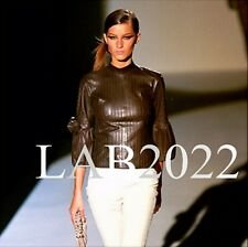 GUCCI TOM FORD Pintuck Leather Fencing Jacket GISE*LE Wore on the Runway