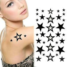 3 Sheets Waterproof Removable Stars Temporary Tattoo Body Sticker Art for Women