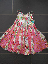 PAMPOLINA GIRLS MULTI COLOURED FLORAL SUMMER DRESS 6 YEARS BLUE HIPPO