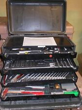 General Mechanic Tool Kit Set Military Green Rolling Case Proto Professional USA