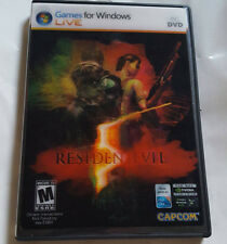 Resident Evil 5 (PC, 2009) **LITHOGRAPH COVER** Rare *Complete*