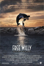 Free Willy 1993 Original Movie Poster Adventure Drama Family
