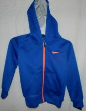 Boys Nike Therma-Fit Reflex Blue Zip Front Hoodie sz 6 NWT