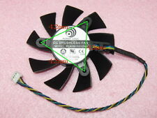 75mm 12V 0.35A 4pin PLA08015S12HH Fan For Video Card R4770 42*42*42mm