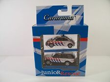 CARARAMA JUNIOR RESCUE RANGE ROVER + VW NEW BEETLE MINT BOXED 1:72
