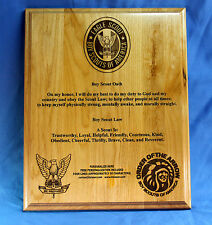 Personalized Boy Scouts of America (BSA) Oath and Law Wood Plaque 10.5X 13 in