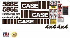 New Case 586E fork lift Construction King 4x4 Decal Set with warning decals