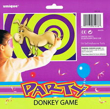PIN THE TAIL ON THE DONKEY GAME 16 PLAYERS CHILDRENS PARTY GAME FREE DELIVERY