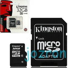Kingston 32GB 32G Class 4 Micro SDHC SD TF Memory Card Tablet Mobile+SD Adapter