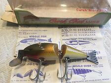 Vintage C.C.B. Co Creek Chub, Golden Shiner WIGGLE FISH Lure - Garrett, IND,NEW