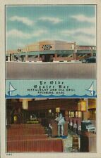 Vintage Postcard - Ye Old Oyster Bar and Sea Grill - Fitchburg Mass